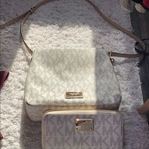 Michael Kors cross body and matching wallet